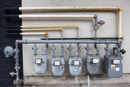 gas meter / gas pipeing