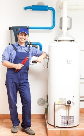man doing water heater repair
