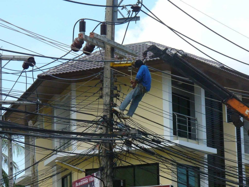 man doing electrical repair