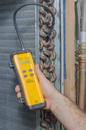 Using a Leak detector -  HVAC Repair Service in Philadelphia