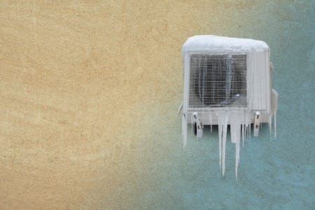 frozen mini split heat pump