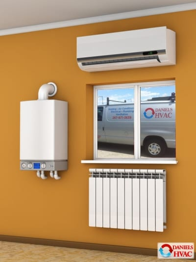 boiler, radiator, air conditioning installation