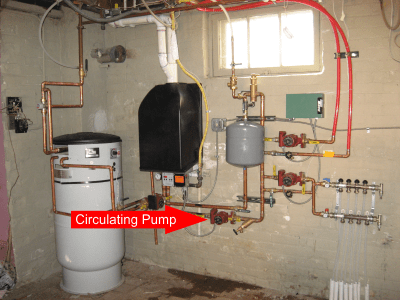 Circulating Pump for a boiler repair service Philadelphia
