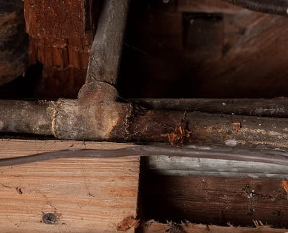 corroded pipe - frozen pipe repair in Philadelphia